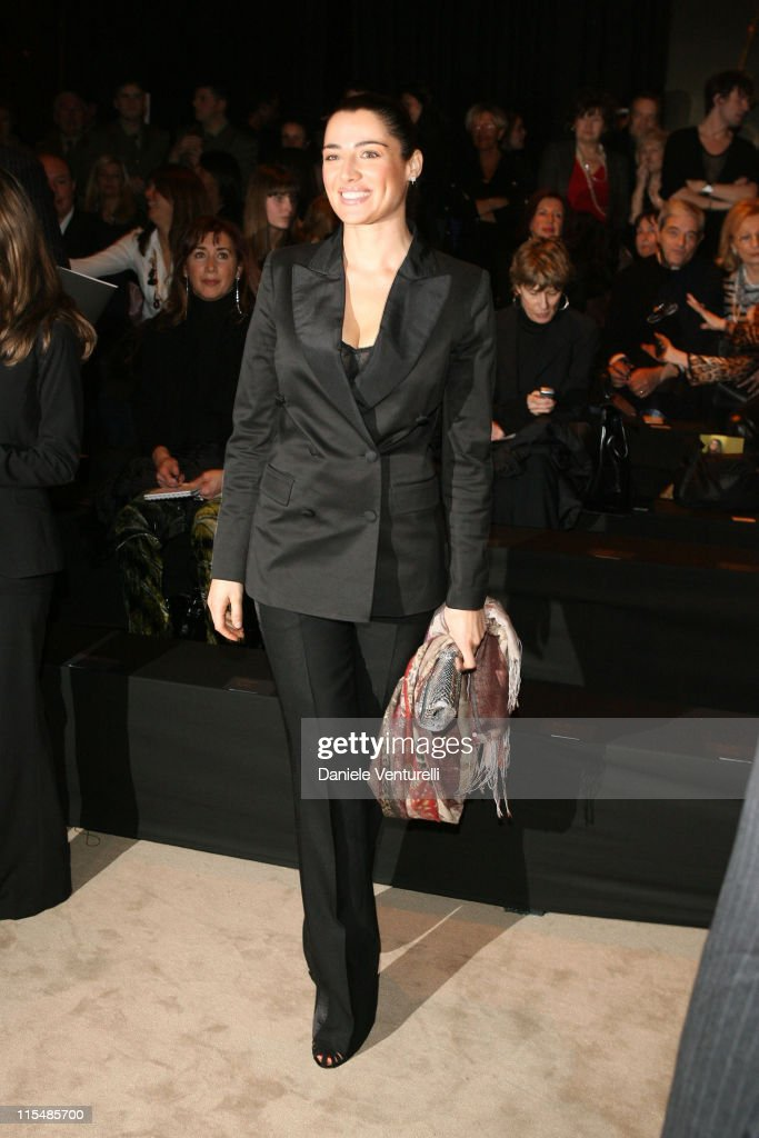 Luisa Ranieri during Milan Fashion Week Fall/Winter 2007 Just Cavalli Front Row and Backstage in Milan Italy