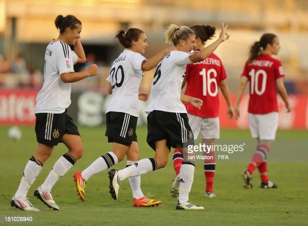 Luisa Wensing of Germainy celebrates scoring a goal during the FIFA U20 Women's World Cup QuarterFina match between Germany v Norway at Komaba...