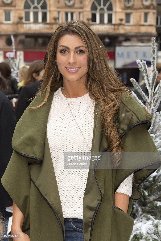 Luisa Zissman attends the celebrity screening of Disney's 'Frozen' on November 17 2013 in London United Kingdom