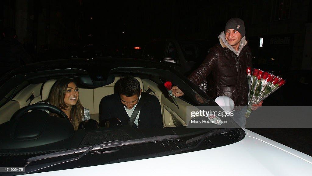 Luisa Zissman leaving Novikov Restaurant on February 25, 2014 in London, England.