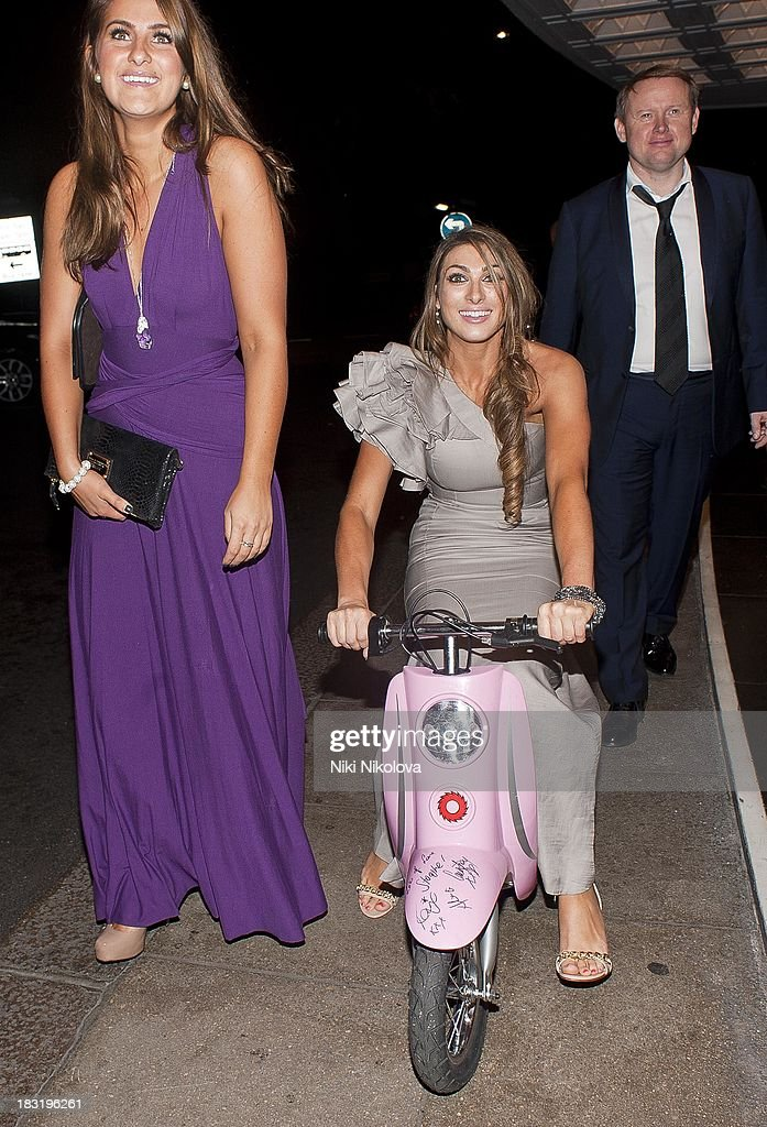 Luisa Zissman sighted leaving the Dorchester Hotel, Park Lane on October 5, 2013 in London, England.