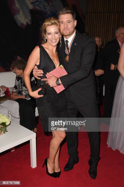 Luisana Lopilato and Michael Buble attend the Governor General's Awards 25th Anniversary Gala at National Arts Centre on June 29 2017 in Ottawa Canada