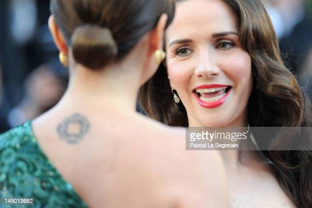 Luisana Lopilato and Natalia Oreiro attend the 'Killing Them Softly' Premiere during 65th Annual Cannes Film Festival at Palais des Festivals on May...