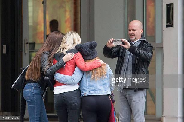 Luisana Lopilato is seen greeting fans on February 12 2015 in Madrid Spain