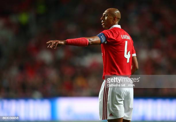 Luisao of Benfica during the UEFA Champions League group A match between SL Benfica and Manchester United at Estadio da Luz on October 18 2017 in...