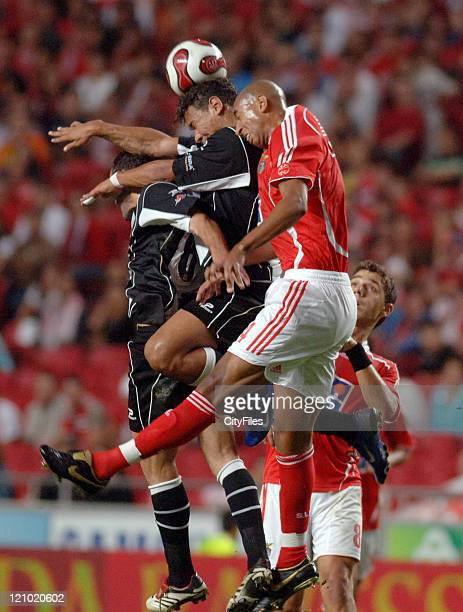Luisao of Benfica in action during the third round of a Portuguese League game between Nacional da Madeira and Benfica in Lisbon Portugal on...