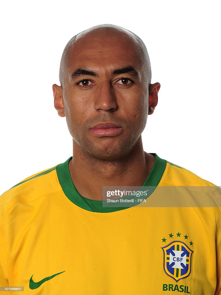 <a gi-track='captionPersonalityLinkClicked' href=/galleries/search?phrase=Luisao&family=editorial&specificpeople=490899 ng-click='$event.stopPropagation()'>Luisao</a> of Brazil poses during the official FIFA World Cup 2010 portrait session on June 3, 2010 in Johannesburg, South Africa.