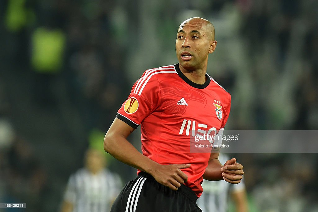<a gi-track='captionPersonalityLinkClicked' href=/galleries/search?phrase=Luisao&family=editorial&specificpeople=490899 ng-click='$event.stopPropagation()'>Luisao</a> of SL Benfica looks on durig the UEFA Europa League semi final match between Juventus and SL Benfica at Juventus Arena on May 1, 2014 in Turin, Italy.