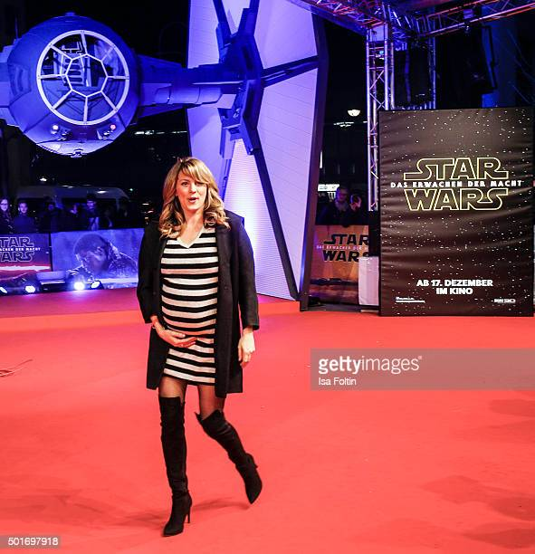 Luise Baehr attends the German premiere for the film 'Star Wars The Force Awakens' at Zoo Palast on December 16 2015 in Berlin Germany