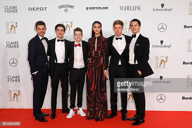 Luise Befort and Club der roten Baender arrives at the Bambi Awards 2016 at Stage Theater on November 17 2016 in Berlin Germany