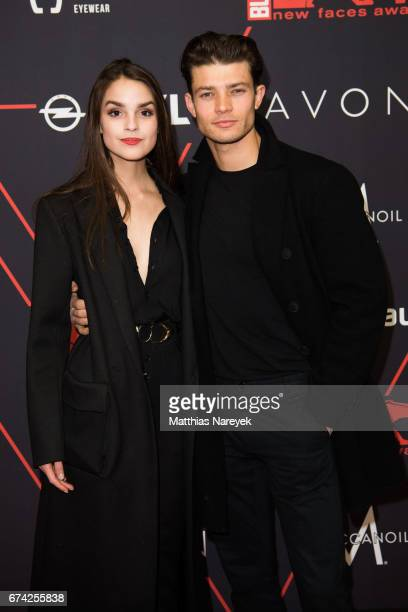 Luise Befort and Eugen Bauder attend the New Faces Award Film at Haus Ungarn on April 27 2017 in Berlin Germany