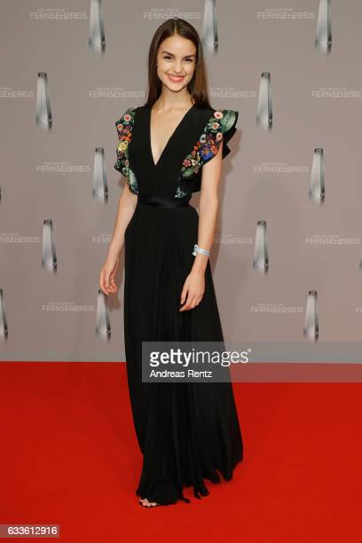 Luise Befort arrives for the German Television Award at Rheinterrasse on February 2 2017 in Duesseldorf Germany