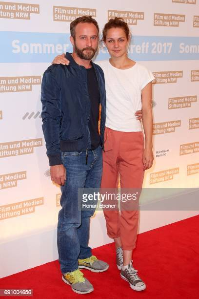 Luise Heyer and Maximilian Brueckner attend Industry Meeting Of The 'Film and Media Fundation North RhineWestphalia' at Wolkenburg on May 31 2017 in...