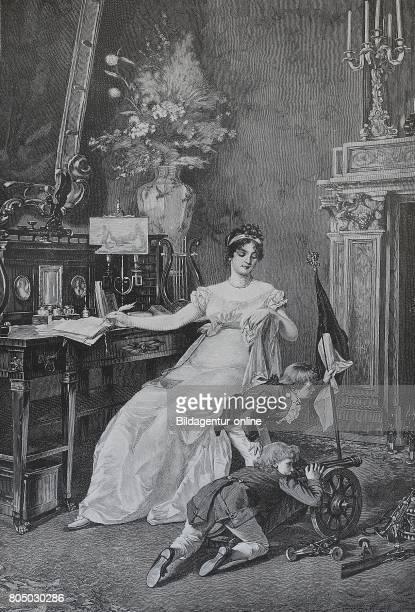 Luise Prinzessin zu MecklenburgStrelitz known as queen Luise von Preussen was the wife of king Frederick III Friedrich Wilhelms III von Preussen with...