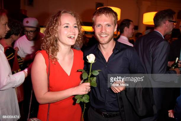 Luise von Finckh and Niklas Osterloh attend the 25th anniversary party of the TV show 'GZSZ' on May 17 2017 in Berlin Germany