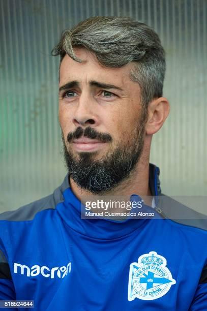 Luisinho Correia of Deportivo de La Coruna looks on prior to the preseason friendly match between Cerceda and Deportivo de La Coruna at O Roxo...