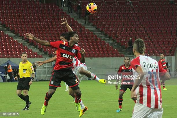 Luiz Antonio of Flamengo runs for the ball during the match between Flamengo and Nautico for the Brazilian Series A at Arena Pernambuco on September...