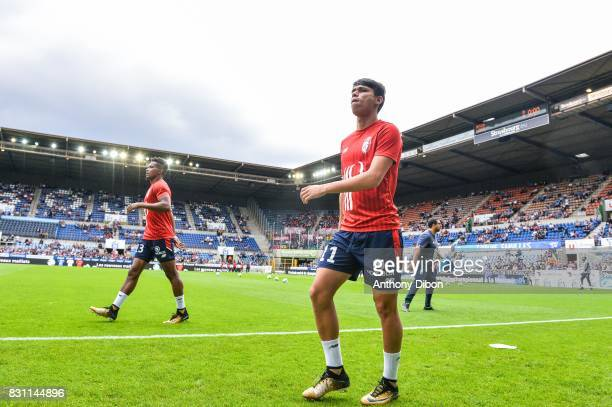 Luiz De Araujo of Lille during the Ligue 1 match between Racing Club Strasbourg and Lille OSC at Stade de la Meinau on August 13 2017 in Strasbourg