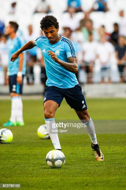 Luiz Gustavo of Marseille before the UEFA Europa League qualifying match between Marseille and Ostende at Stade Velodrome on July 27 2017 in...