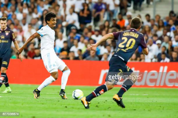 Luiz Gustavo of Marseille during the Ligue 1 match between Olympique Marseille and Dijon FCO at Stade Velodrome on August 6 2017 in Marseille