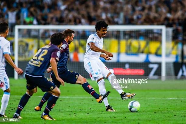 Luiz Gustavo of Marseille during the Ligue 1 match between Olympique Marseille vs Dijon FCO at Stade Velodrome on August 6 2017 in Marseille France...