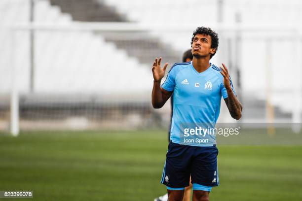 Luiz Gustavo of Marseille during the training session before the UEFA Europa League qualifying match between Marseille and Ostende at Stade Velodrome...