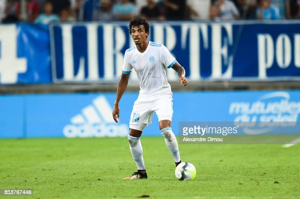 Luiz Gustavo of Marseille during the Uefa Europa League Playoffs match second leg between Olympique de Marseille and NK Domzale at Stade Velodrome on...
