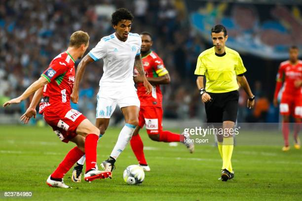 Luiz Gustavo of Marseille during the UEFA Europa League qualifying match between Marseille and Ostende at Stade Velodrome on July 27 2017 in...