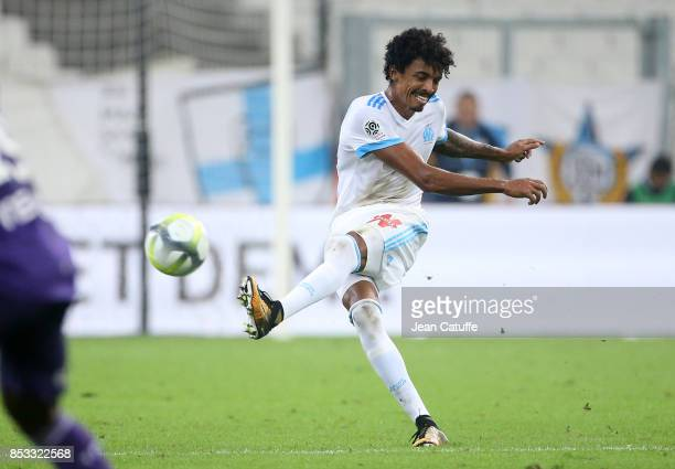 Luiz Gustavo of OM during the French Ligue 1 match between Olympique de Marseille and Toulouse FC at Stade Velodrome on September 24 2017 in...