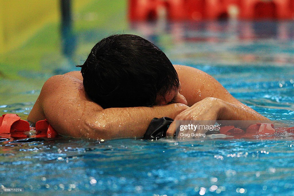 Luiz Lopes Melo of Brazil who finished 6th during the final of the mens 400m freestyle at the Aquatic Centre at Sydney Olympic Park Sports Centre on January 19, 2013 in Sydney, Australia.