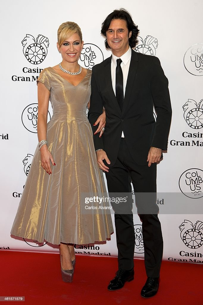 Lujan Arguelles and Poti Castillo attend the Casino Gran Madrid Colon opening on January 9, 2014 in Madrid, Spain.