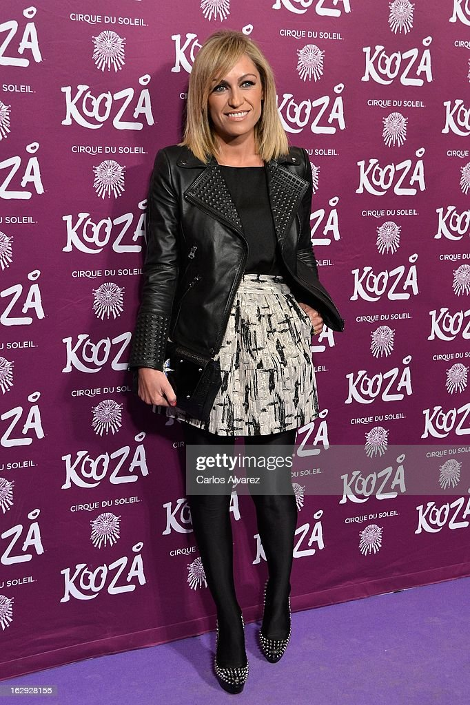 Lujan Arguelles attends 'Cirque Du Soleil' Kooza 2013 premiere on March 1, 2013 in Madrid, Spain.