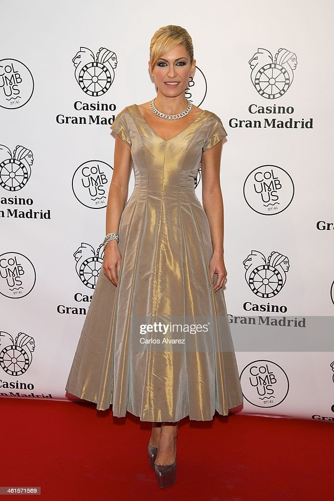 Lujan Arguelles attends the Casino Gran Madrid Colon opening on January 9, 2014 in Madrid, Spain.