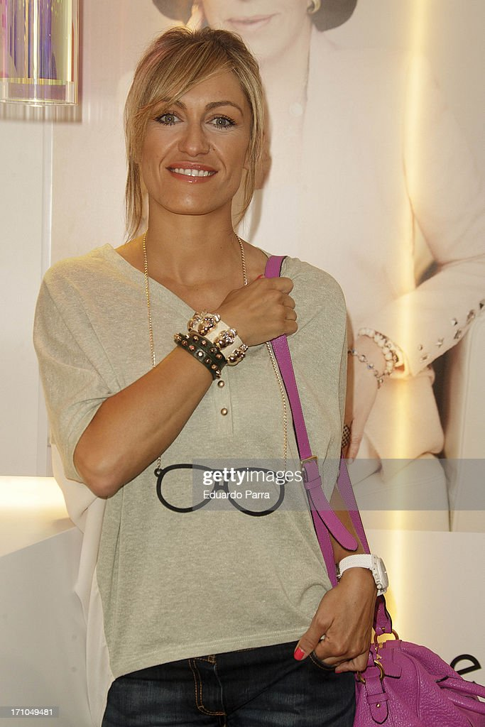 Lujan Arguelles presents Carmen Navarro beauty space at El Corte Ingles Store on June 21, 2013 in Madrid, Spain.