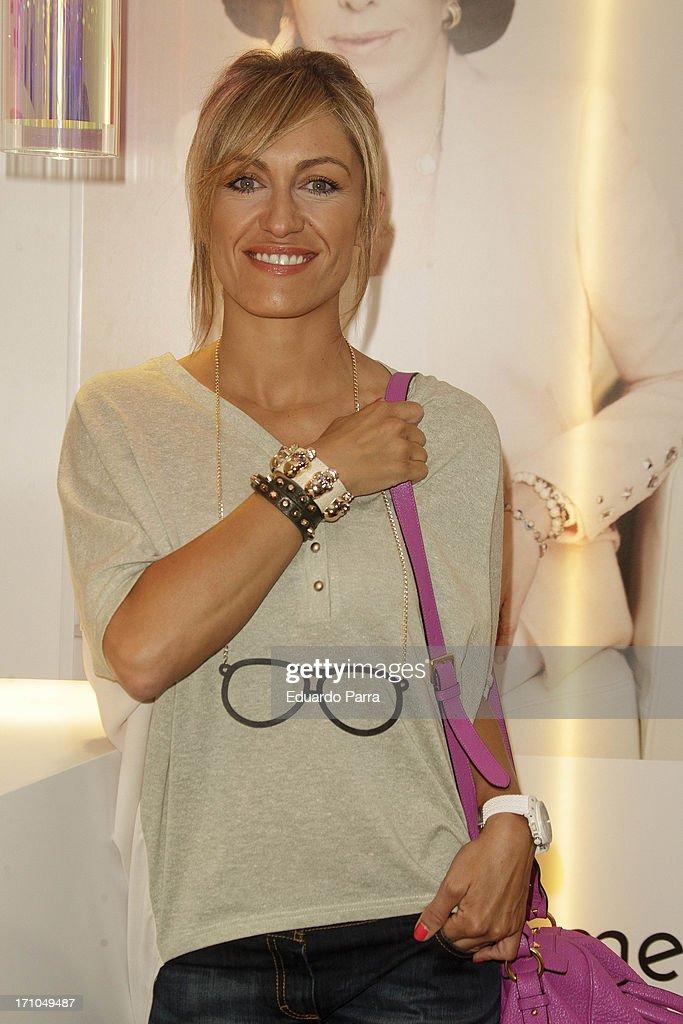 Lujan Arguelles presents Carmen Navarro beauty space at El Corte Ingles Store on June 21, 2013 in Madrid, Spain.