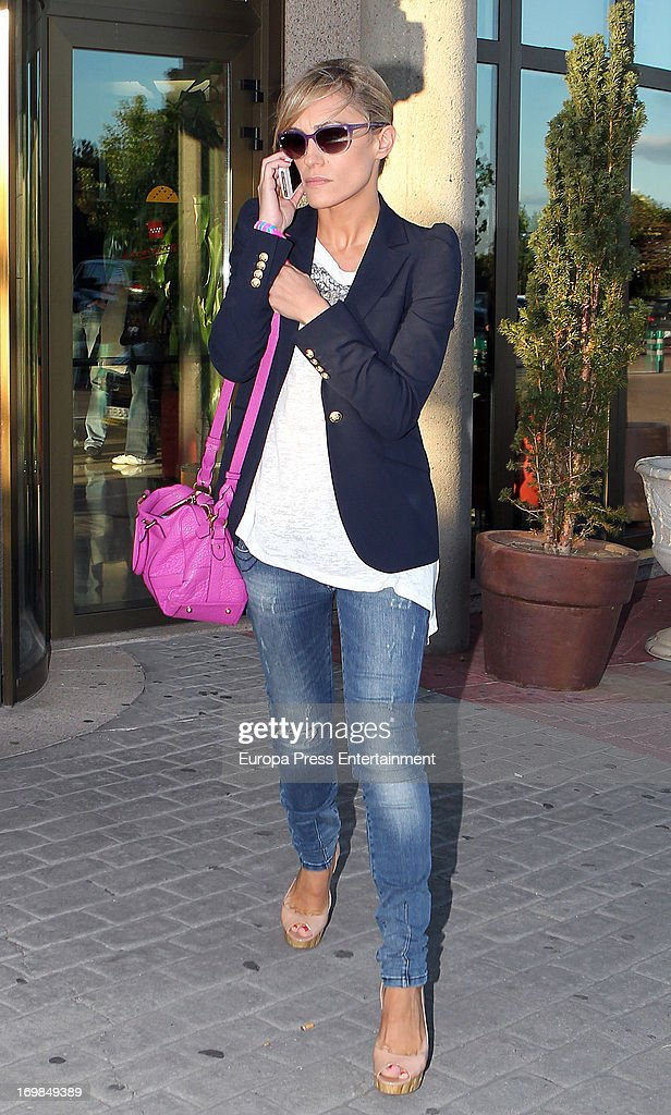 Lujan Arguelles visits the chapel of rest for Mario Biondo at Tanatorio Parcesa on May 31, 2013 in Madrid, Spain. Spanish television presenter Raquel Sanchez Silva found her 36 year-old-husband, Italian cameraman Mario Biondo, dead at their home after returning from work on May 30.