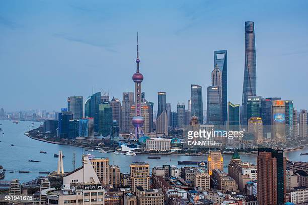 lujiazui of Shanghai
