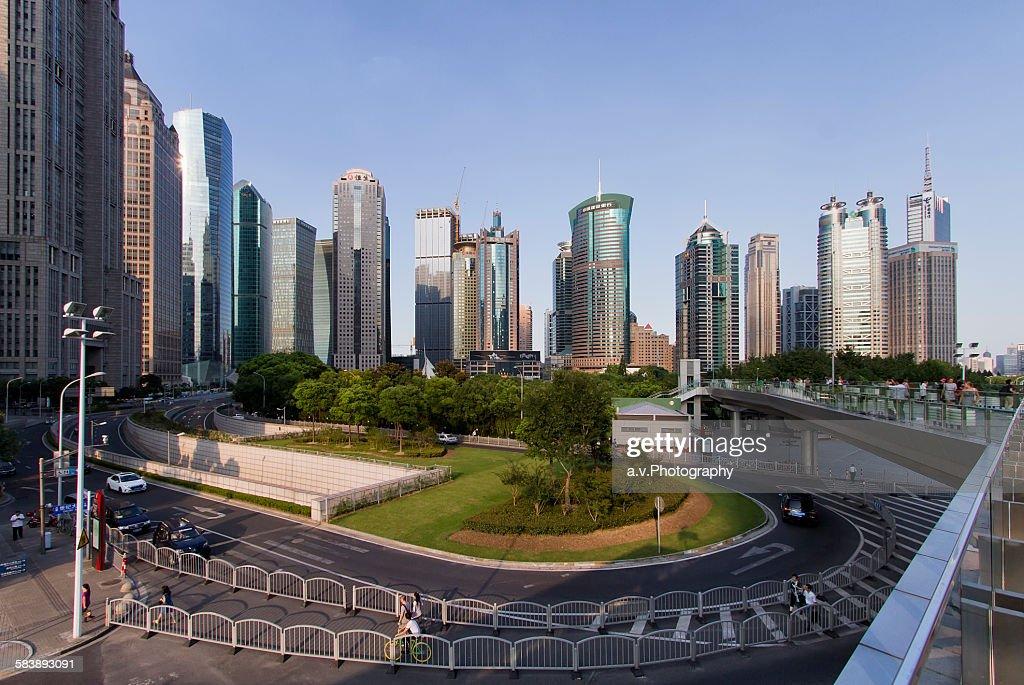 Lujiazui skyline in Pudong.