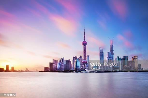Lujiazui - the sunset view