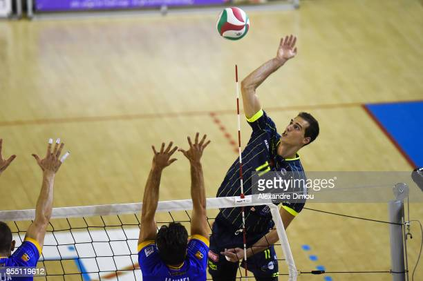Luka Basic of Toulouse during the Volleyball friendly match on September 22 2017 in Montpellier France