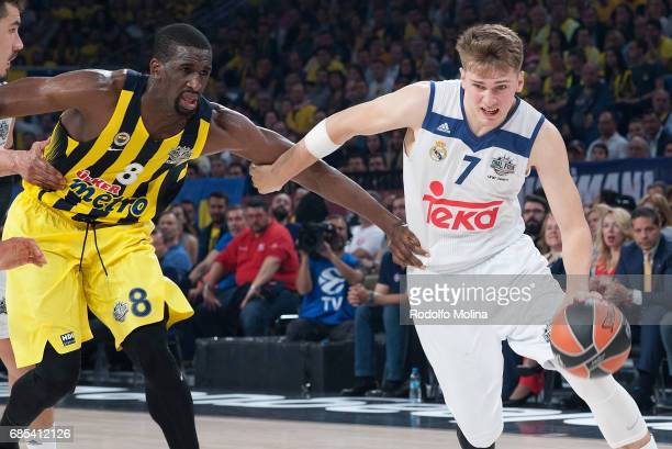 Luka Doncic #7 of Real Madrid in action during the Turkish Airlines EuroLeague Final Four Semifinal A game between Fenerbahce Istanbul v Real Madrid...