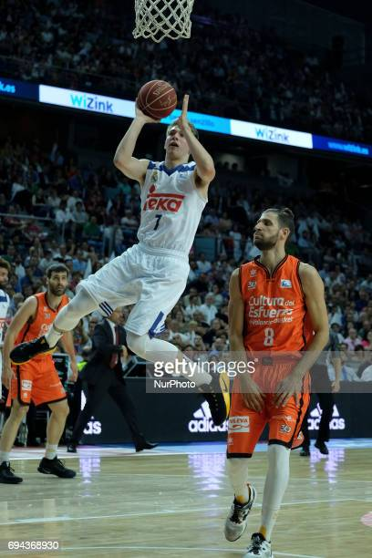 Luka Doncic of Real Madrid during the Liga Endesa Final first game between Real Madrid and Valencia Basket at Barclaycard Center on June 9 2017 in...