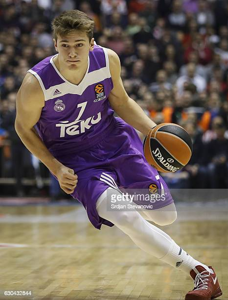 Luka Doncic of Real Madrid in action during the 2016/2017 Turkish Airlines EuroLeague Regular Season Round 14 game between Crvena Zvezda MTS Belgrade...