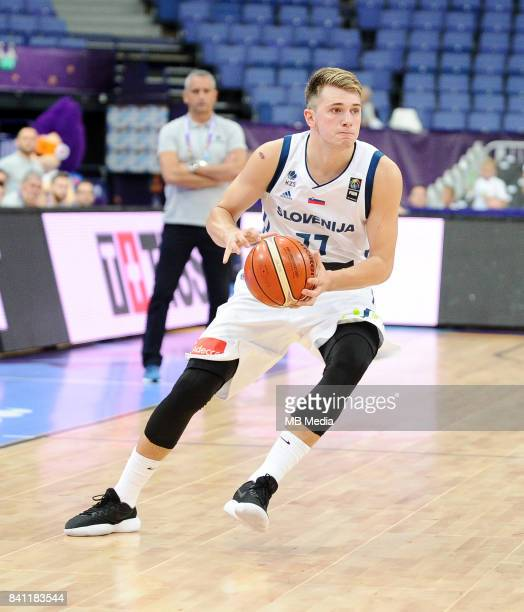 Luka Doncic of Slovenia during the FIBA Eurobasket 2017 Group A match between Slovenia and Poland on August 31 2017 in Helsinki Finland