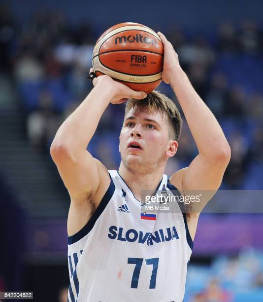 Luka Doncic of Slovenia during the FIBA Eurobasket 2017 Group A match between Slovenia and Greece on September 3 2017 in Helsinki Finland