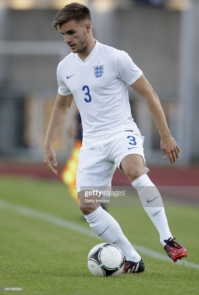 Luka Garbutt of England in action during the Lithuania v England UEFA U21 Championship Qualifier 2015 match at Dariaus ir Gireno Stadionas on September 5, 2014 in Kaunas, Lithuania.