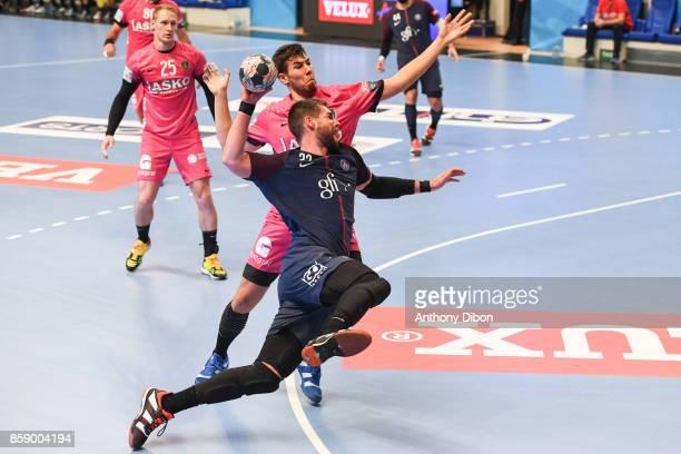 Luka Karabatic of PSG during the EHB Champions League match between Paris Saint Germain and Celje on October 8 2017 in Paris France