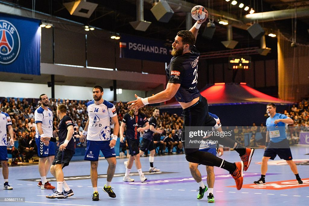Luka Karabatic of PSG during the EHB Handball Champions League match, second Leg, Round of 8, between Paris Saint Germain and HC Zagreb on May 1, 2016 in Paris, France.