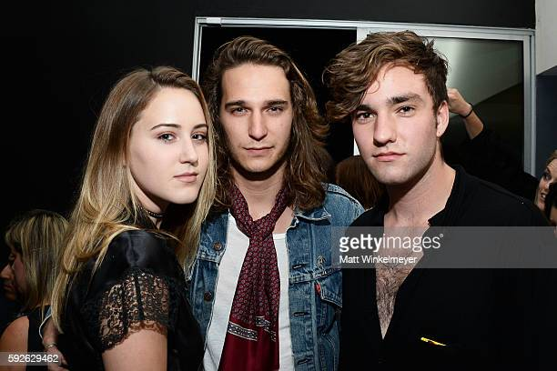 Luka Kloser Lennon Kloser and Jackson White attend ARYA Curcumin Presents The Yellow Social at Private Residence on August 20 2016 in Los Angeles...