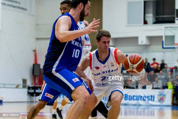 Luka Lapornik during the LNBM Men's National Basketball League game between CSM Steaua Bucharest and BC Mures TarguMures at Sala Regimentul de Garda...